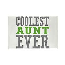 Coolest Aunt Ever Rectangle Magnet