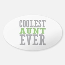 Coolest Aunt Ever Sticker (Oval)