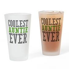 Coolest Auntie Drinking Glass