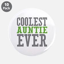 "Coolest Auntie 3.5"" Button (10 pack)"