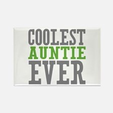 Coolest Auntie Rectangle Magnet