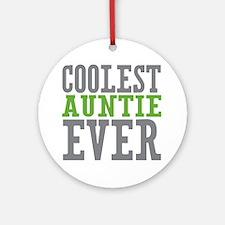 Coolest Auntie Ornament (Round)