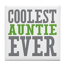 Coolest Auntie Tile Coaster