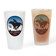 The Pony Express Drinking Glass