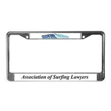 Association of Surfing Lawyer License Plate Frame