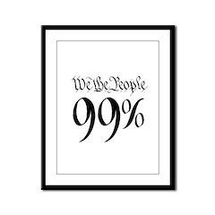we the people 99% black Framed Panel Print