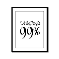 we the people 99% black Framed Panel Print