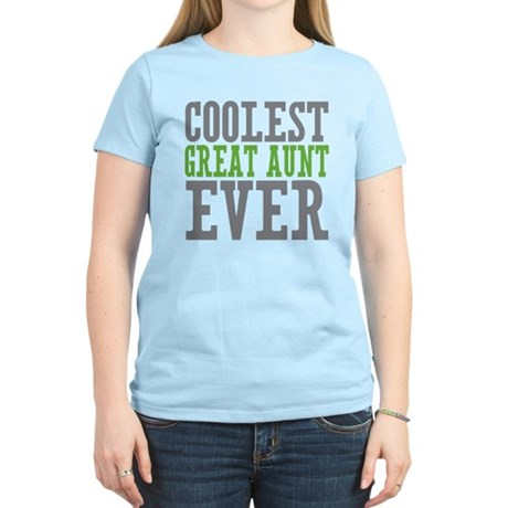Coolest Great Aunt Women's Light T-Shirt