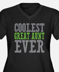 Coolest Great Aunt Women's Plus Size V-Neck Dark T