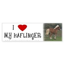 I love my Haflinger Bumper Bumper Sticker