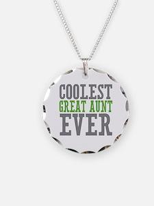 Coolest Great Aunt Necklace Circle Charm