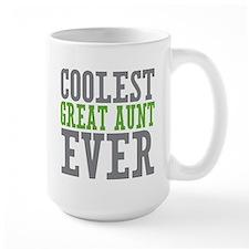 Coolest Great Aunt Ceramic Mugs