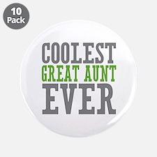 "Coolest Great Aunt 3.5"" Button (10 pack)"
