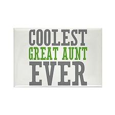 Coolest Great Aunt Rectangle Magnet