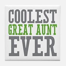 Coolest Great Aunt Tile Coaster
