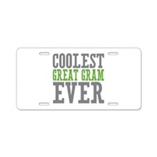Coolest Great Gram Aluminum License Plate
