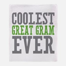 Coolest Great Gram Throw Blanket
