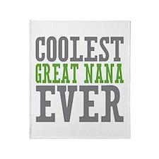 Coolest Great Nana Throw Blanket