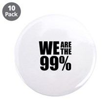 """We Are the 99% 3.5"""" Button (10 pack)"""