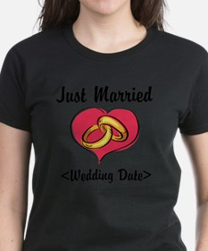 Just Married (Add Your Wedding Date) Tee