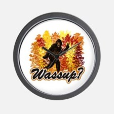 Whats Up Bigfoot Sasquatch Wall Clock