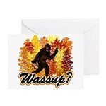 Whats Up Bigfoot Sasquatch Greeting Cards (Pk of 1