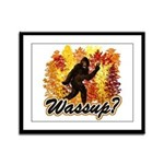 Whats Up Bigfoot Sasquatch Framed Panel Print