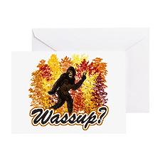Whats Up Bigfoot Sasquatch Greeting Card