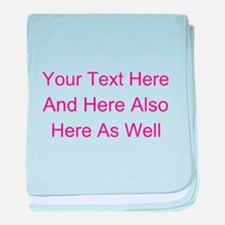 Customizable Personalized Text (Fusch baby blanket