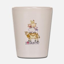 I Love Country Shot Glass