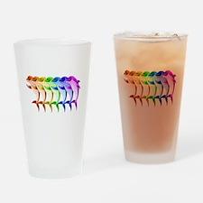 Rainbow Dolphins Drinking Glass