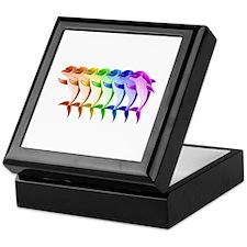 Rainbow Dolphins Keepsake Box