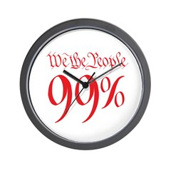 we the people 99% red Wall Clock
