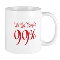 we the people 99% red Mug