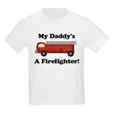 My Daddy's A Firefighter Kids T-Shirt