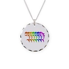 Rainbow Dolphins Necklace