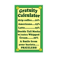 Funny Gratuity Calculator Tip Jar Decal