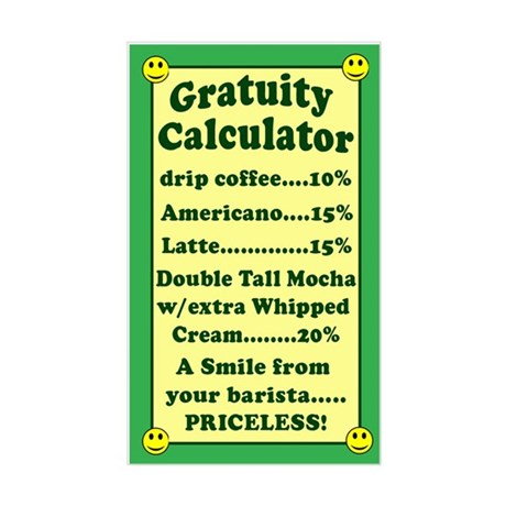 Funny Gratuity Calculator Tip Jar Sticker