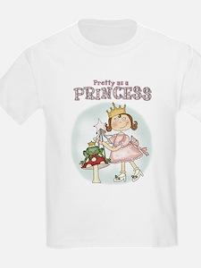 Pretty As A Princess Kids T-Shirt