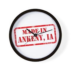 MADE IN ANKENY, IA Wall Clock