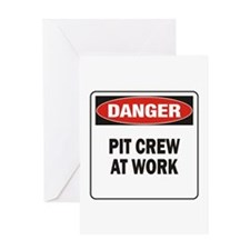 Pit Crew Greeting Card