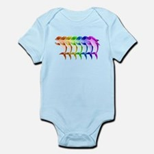 Rainbow Dolphins Infant Bodysuit