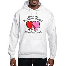 Funny Just Married (Add Wedding Date) Hoodie