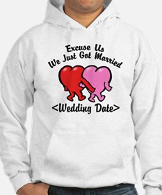 Funny Just Married (Add Wedding Date) Hoodie