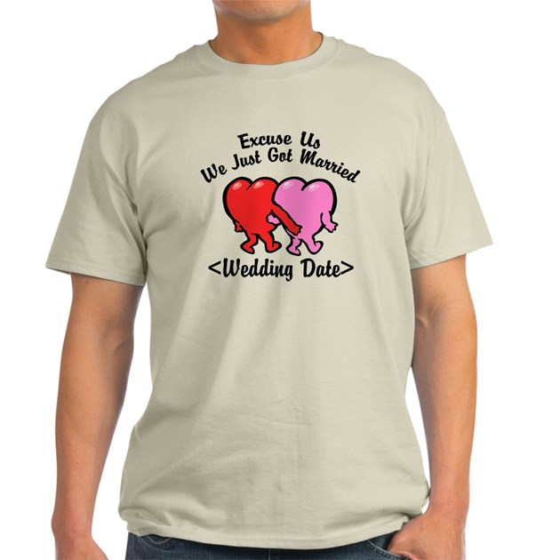 Funny just married add wedding date t shirt by for Funny getting married shirts