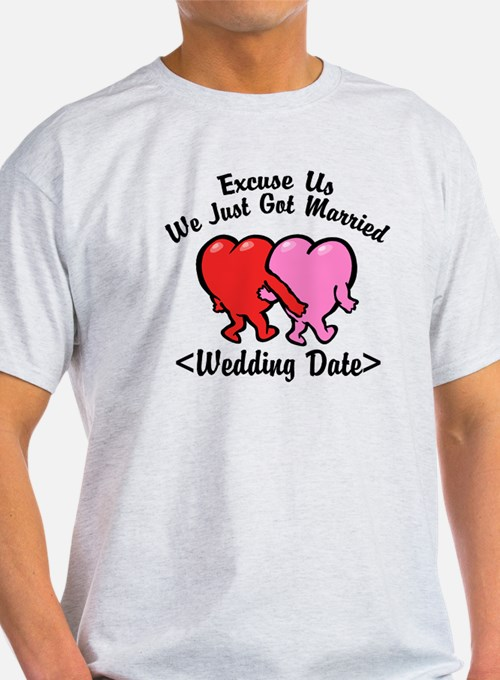 Funny Just Married (Add Wedding Date) T-Shirt