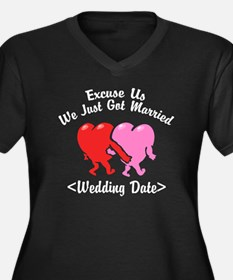 Funny Just Married (Add Wedding Date) Women's Plus