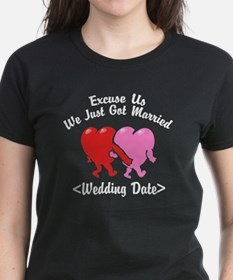 Funny Just Married (Add Wedding Date) Tee