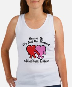 Funny Just Married (Add Wedding Date) Women's Tank