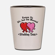 Funny Just Married (Add Wedding Date) Shot Glass